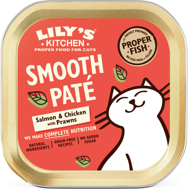 Lily's Kitchen Nourriture humide pour chats Catch of the Day Saumon 19x85g
