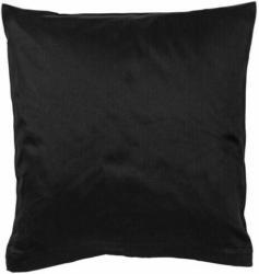 Satin-Kissenbezug 2er-Pack schwarz 80 x 80 cm