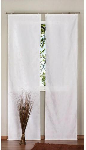 Schiebevorhang Tulip Flock, weiß, ca. 60 x 245 cm