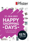 Pfister Happy Shopping Days - au 30.08.2021