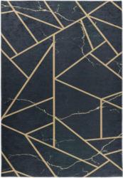 Webteppich Modern Gold in Dunkelblau ca. 160x230cm