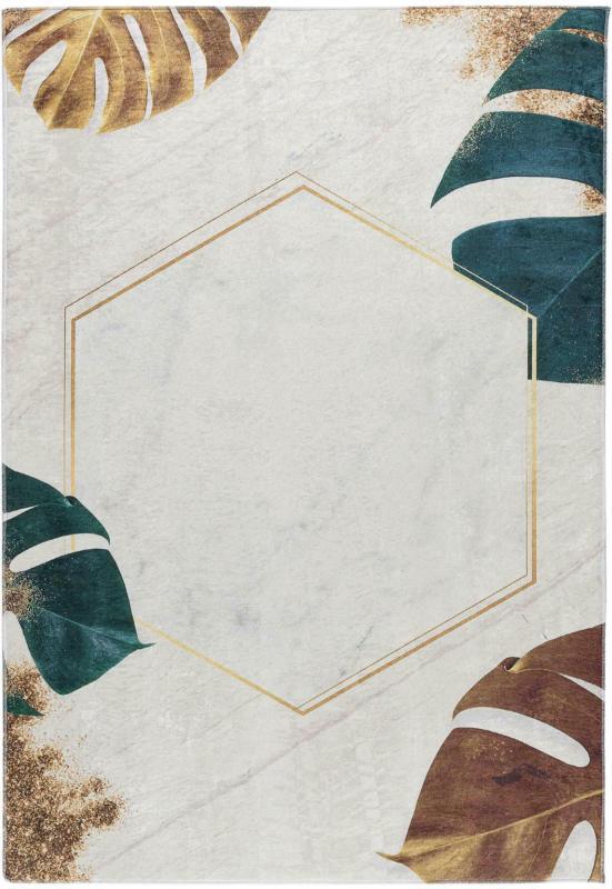 Webteppich Leaves in Beige ca. 120x170cm