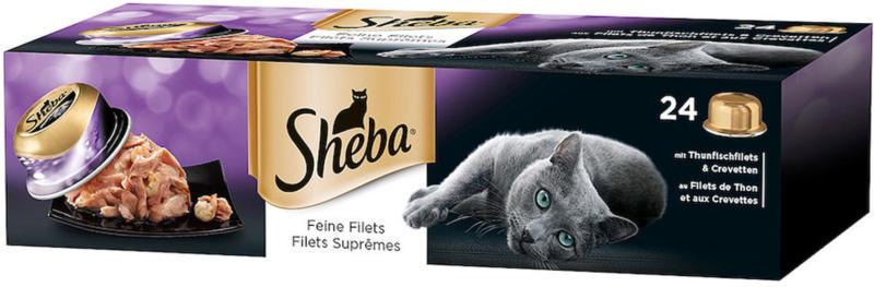 Sheba Délicieux filets au thon & crevettes 24x80g