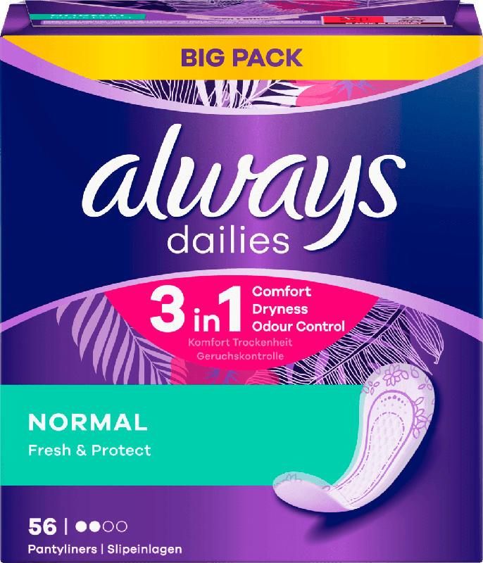 always Slipeinlage Fresh&Protect Normal BigPack