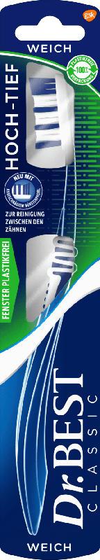Dr. Best Zahnbürste Hoch-Tief weich