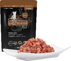 catz finefood Nassfutter für Katzen, Wildschwein, Adult, N°109