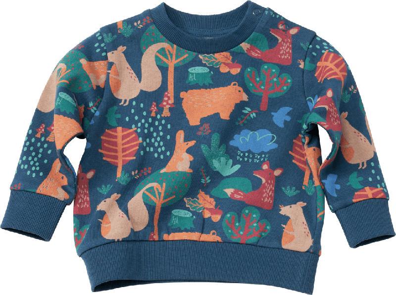 PUSBLU Kinder Pullover, Gr. 86, in Baumwolle, blau, bunt