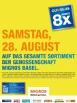 Migros Basel 8x Cumulus - bis 28.08.2021