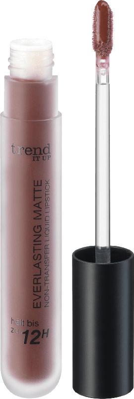 trend IT UP Lippenstift Everlasting Matte Non-Transfer Liquid Lipstick dunkel-braun-rot 080