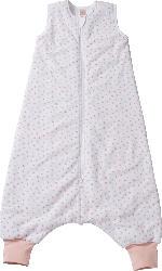 PUSBLU Kinder Schlafsack 2 TOG, 100 cm, mit Bio-Baumwolle, weiß, rosa