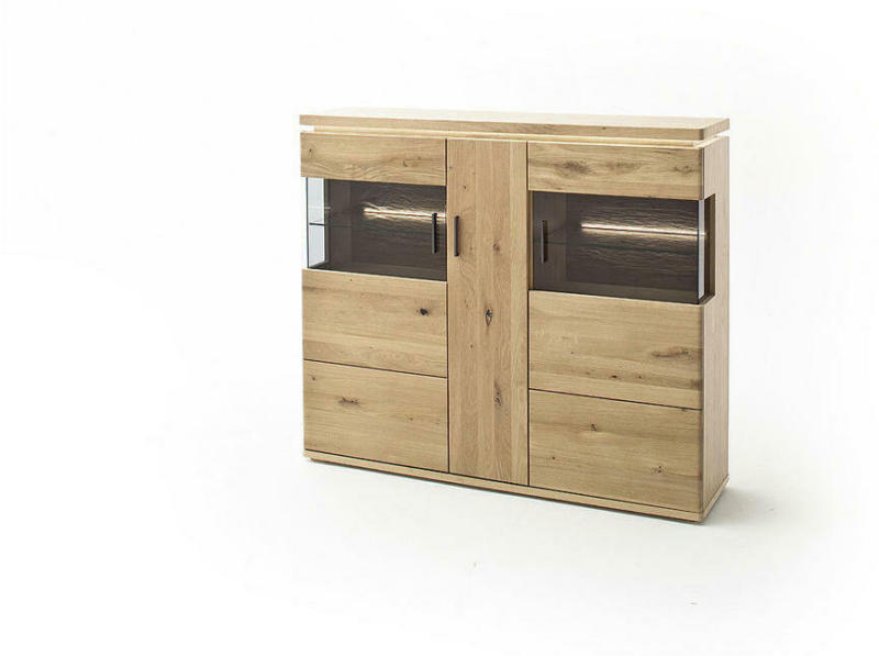 Highboard ohne Beleuchtung, 150/128/37 cm