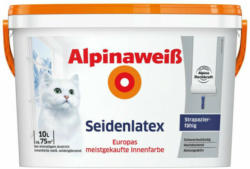 Alpinaweiß Seidenlatex 10 Liter weiß
