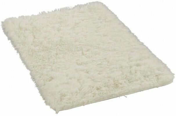 Teppich Plush ca. 60 x 90 cm weiß