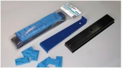 Verlege-Set: Zugeisen, PVC-Schlagklotz, PVC-Abstandhalter