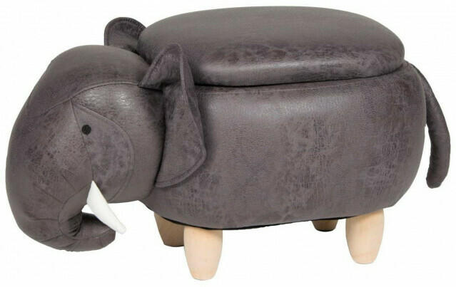 Tierhocker Elefant grau