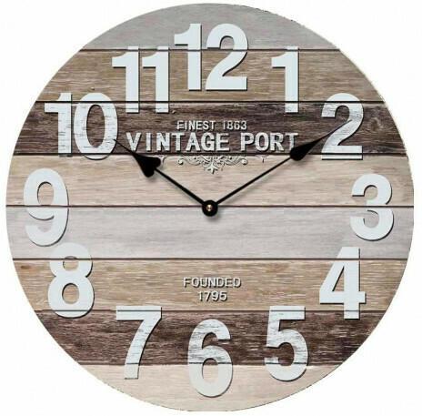 Wanduhr Vintage Port