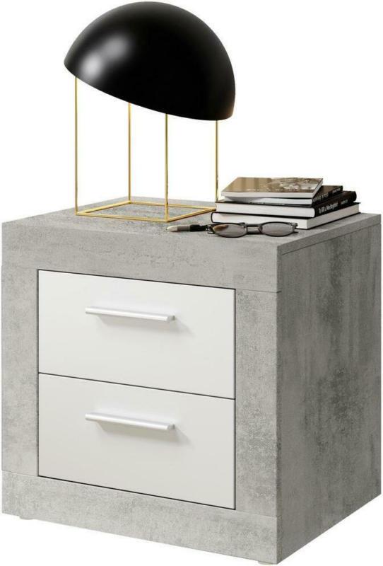 Nachtkästchen Stone Grau/Weiß B: 50cm