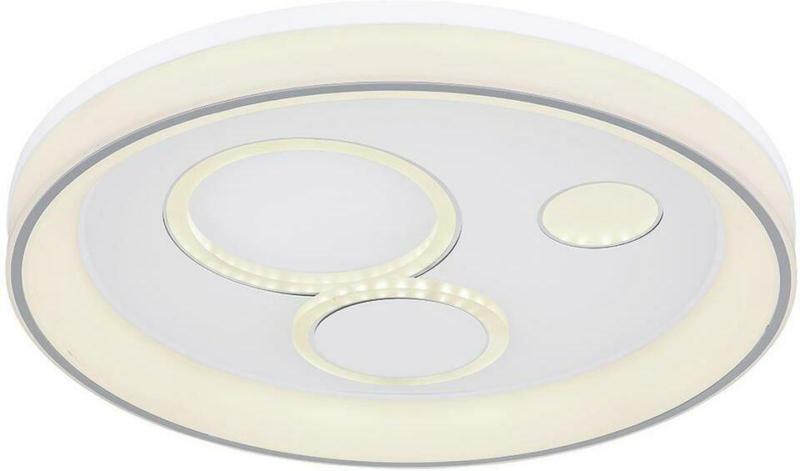LED-Deckenleuchte Roba D: 49cm Chromfarben/Weiss