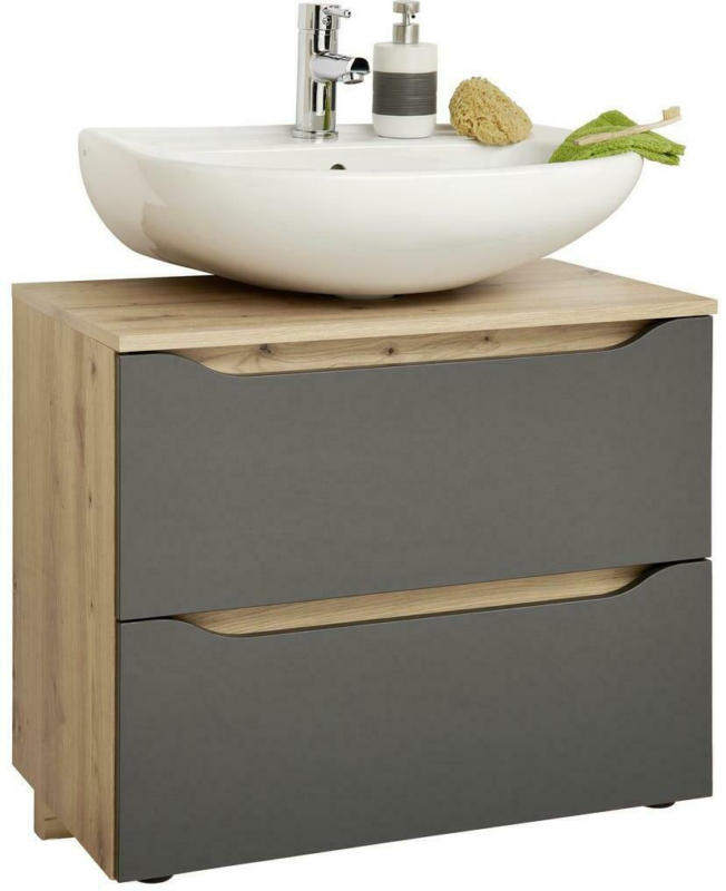 Waschbecken mit Unterschrank Giga B: 100 cm, Eiche/Anhrazit