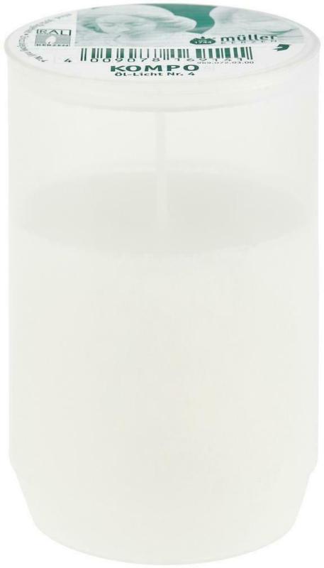 Grablicht Weiß Ø/H: 5,6/9,6 cm