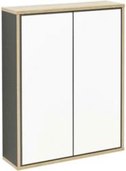 Spiegelschrank Push-To-Open Finn B: 60cm, Anthrazit+eiche