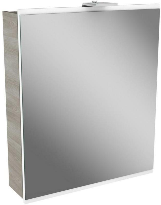 Spiegelschrank Lima mit Led 1 Tür BxHxT: 60x73x15,5 cm Esche