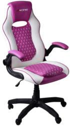 Gaming Stuhl Racing Kappa mit Sitzkissen, Pink/Weiß