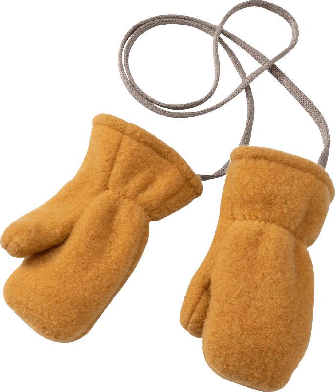 ALANA Baby Handschuhe, Gr. 1, in Bio-Wolle, gelb