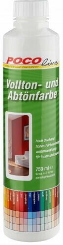 Vollton- und Abtönfarben weiß750 ml