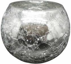 Windlicht Crackle silber ø ca. 15 cm