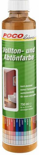 Vollton- und Abtönfarben zimtbraun750 ml
