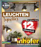 Möbel Inhofer Möbel Inhofer - Topseller Leuchten - bis 29.08.2021