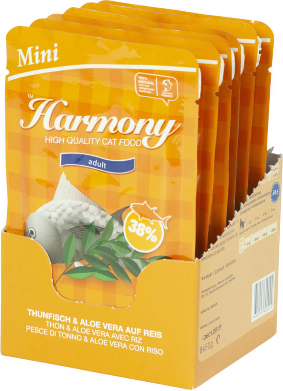 Harmony Cat Mini Thunfisch & Aloe Vera auf Reis 6x50g