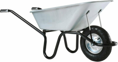 Haemmerlin Einrad-Schubkarre 120 l Muldenvolumen 200 kg Traglast verzinkt
