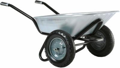 Zweirad-Schubkarre 100 l Muldenvolumen verzinkt