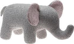 Dekorieren & Einrichten Elefant in Häkeloptik grau-rosa