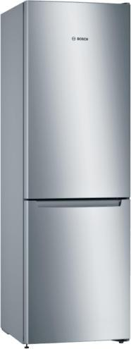 Bosch Serie | 2 Freistehende Kühl-Gefrier-Kombination mit Gefrierbereich unten 186 x 60 cm Edelstahl-Optik