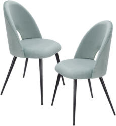 Stuhl-Set in Textil Hellgrün