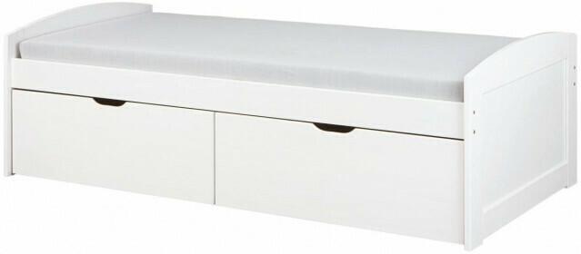Einar Funktionsbett Massivholz Kiefer weiß lackiert 90 cm