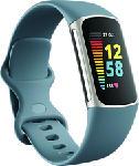 MediaMarkt FITBIT Charge 5 - Fitness Tracker (Blu grigio/platino)