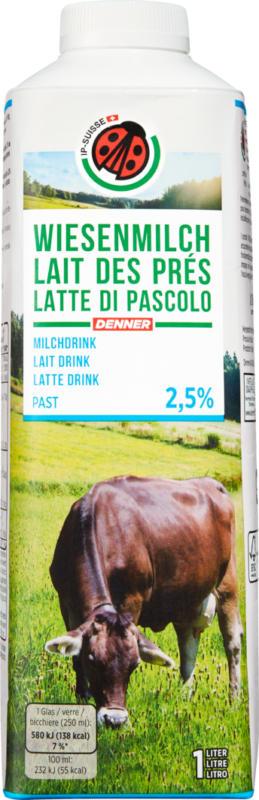 Lait des prés Lait drink IP-SUISSE, 2,5% de matière grasse, pasteurisé, 1 litre