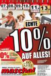 Maschal Einrichtungszentrum GmbH Echte 10% auf Alles! - bis 13.09.2021