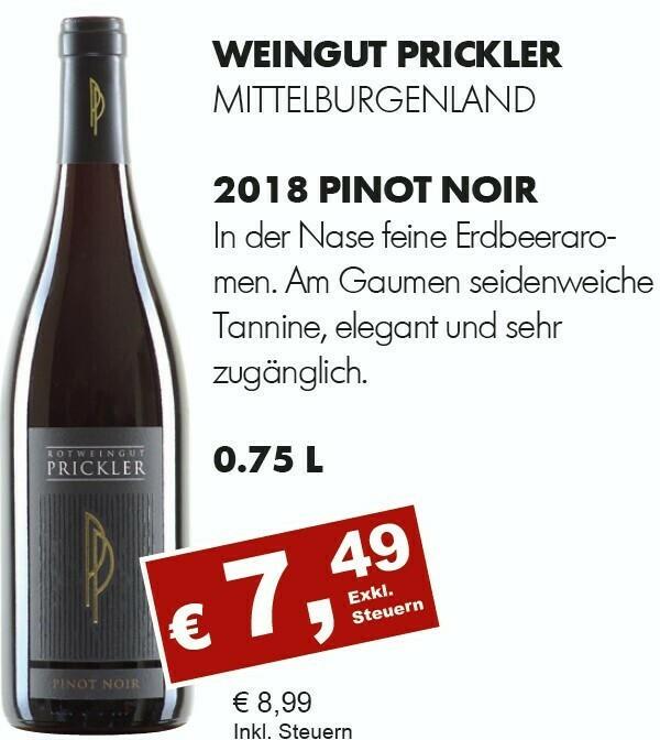 2018 Pinot Noir, Prickler, Mittelburgendland