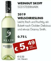 2019 Welschriesling, Skoff, Südsteiermark