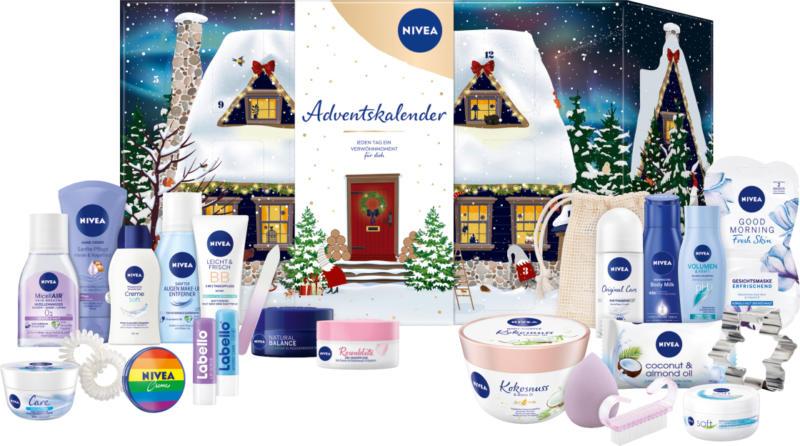 NIVEA Adventskalender 2021 - Haus im Schnee