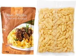 Rehpfeffer und Eierspätzli, Österreich, 550 g Rehpfeffer und 500 g Eierspätzli