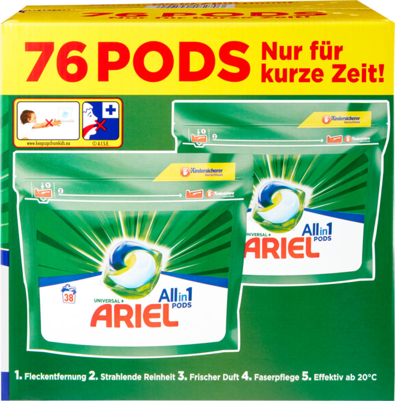 Ariel Universal All in 1 pods, 2 x 38 pods