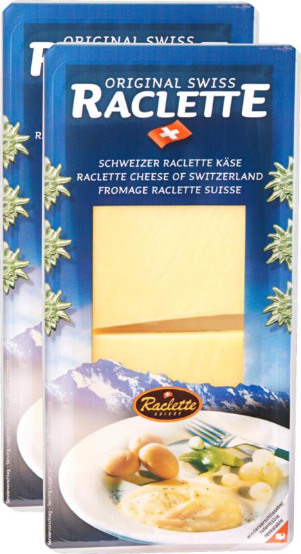 Original Swiss Raclette, in Scheiben, 2 x 500 g