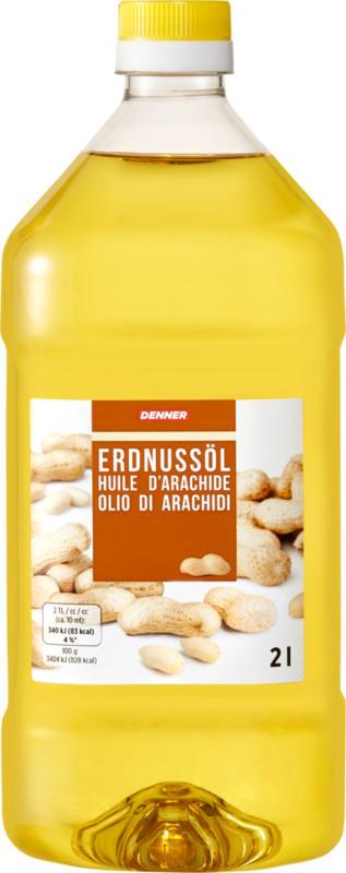 Huile d'arachide Denner, 2 litres