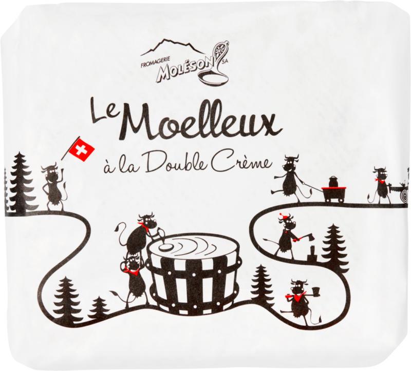 Le Moelleux à la double crème Fromagerie Moléson, 180 g